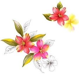 handpainted flowers layered psd 8