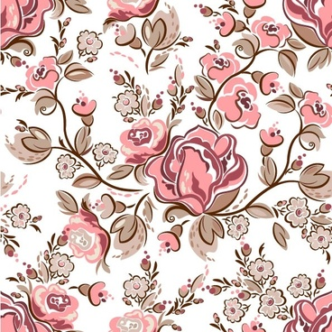 handpainted flowers vector background 3