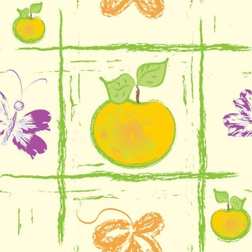 handpainted fruit background vector 4