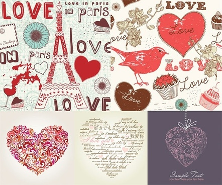 handpainted love element vector