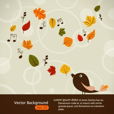 handpainted maple leaf background 03 vector