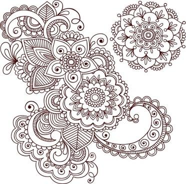 handpainted pattern 01 vector