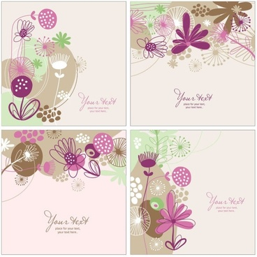 handpainted pattern background 02 vector