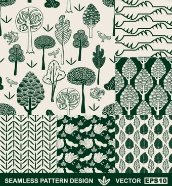 handpainted pattern background 03 vector