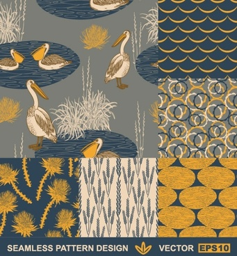 handpainted pattern background 05 vector