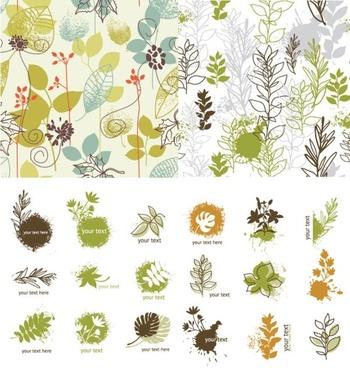 handpainted plant vector