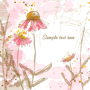 dandelion background classical handdrawn sketch