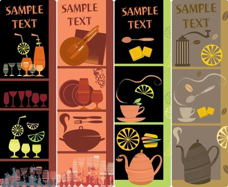 menu background templates dark flat classic utensils decor