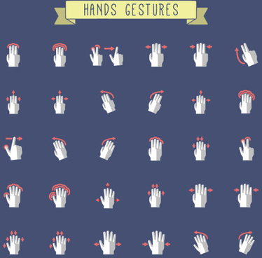 hands gestures design vector