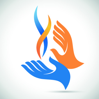 hands logo design vector