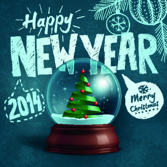 handwriting14 merry christmas backgrounds vector
