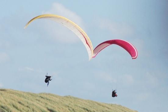 hang glider sun summer