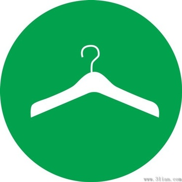 hanger icon vector green background