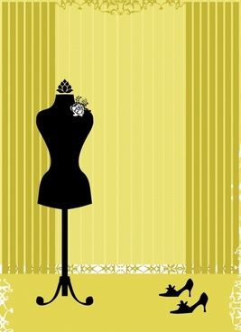 woman fashion advertising background elegant silhouette retro design