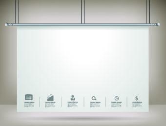 hanging advertising board design vector