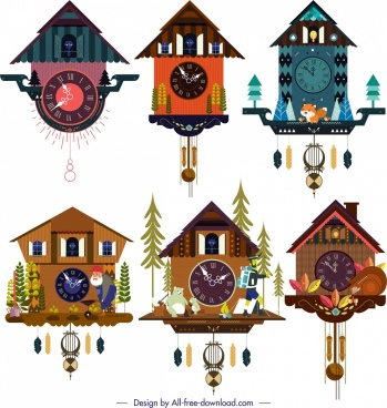 hanging clock templates collection classical cottage decor