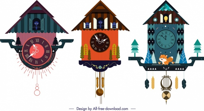 hanging clock templates cute classical design cottage decor