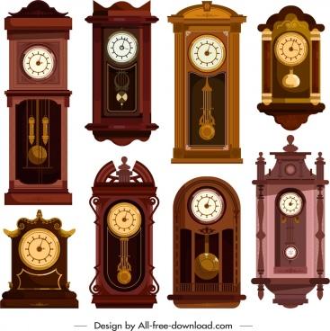 hanging clocks templates collection elegant retro decor