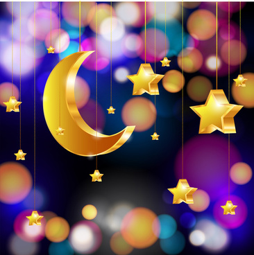 hanging moon star background