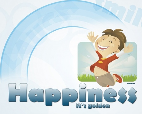 Happiness – Free PSD Wallpaper