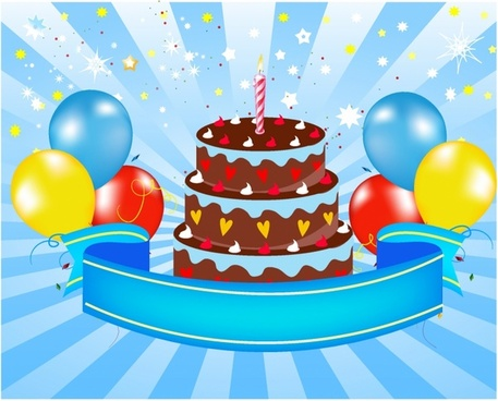 Happy Birthday Cake Free Vector In Adobe Illustrator Ai AI