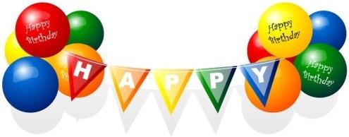 Balloons Clip Art Happy Birthday Balloon Vector