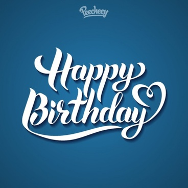 happy birthday blue sign