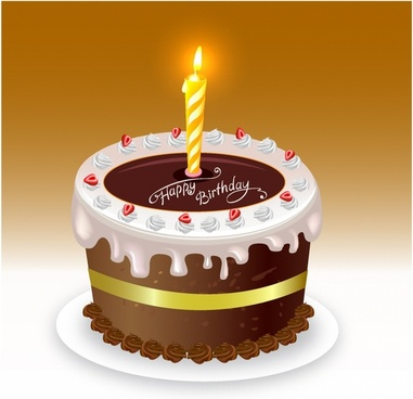 Happy Birthday Cake Graphic Free Vector Download 5963