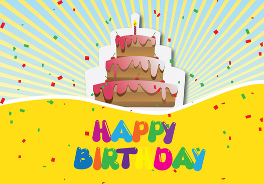 Happy Birthday Cake Graphic Free Vector Download 5990