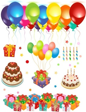 Free birthday. Happy clip art vector
