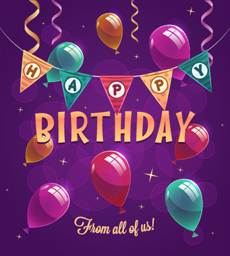 happy birthday creative background vector