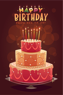 Happy birthday cake background image free vector download