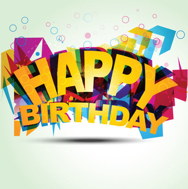 happy birthday design elements free vector