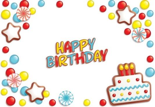 Happy Birthday Elements 02 Vector