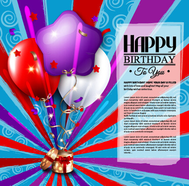 Happy Birthday Wishes Card Free Vector Download 15591 Free Vector