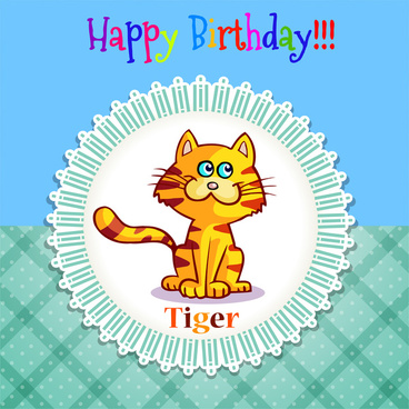 happy birthday tiger in frame