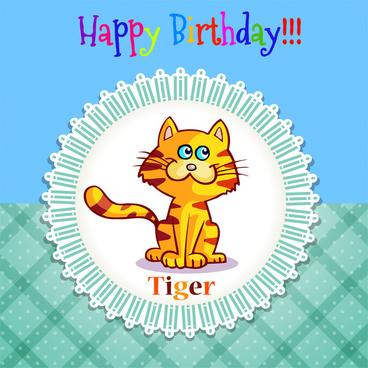 happy birthday tiger in frame