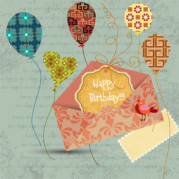 happy birthday vintage decor style