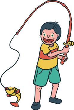 Happy boy cartoon vector