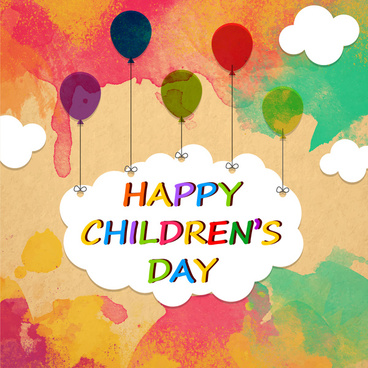 happy children day background