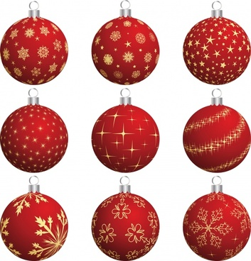 happy christmas ball decorative ball vector