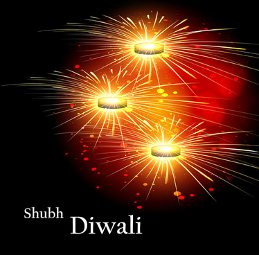 happy diwali beautiful celebration colorful background festival vector