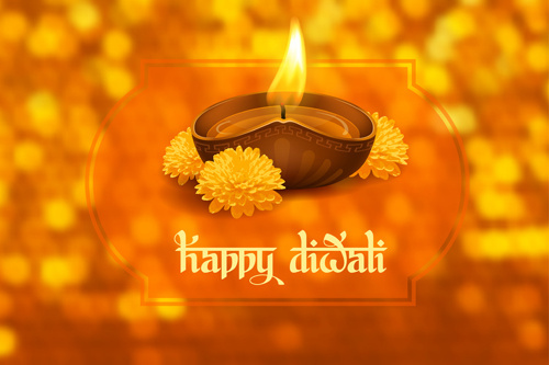 happy diwali ethnic styles background vectors