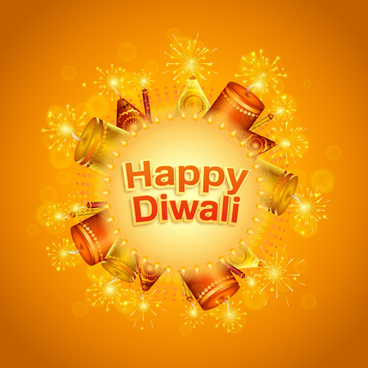 happy diwali india styles vector background vector