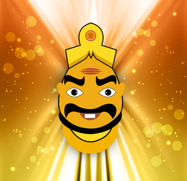 happy dussehra concept colorful background vector illustration