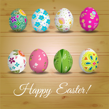 happy easter eggs decor collections