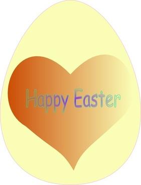 Happy Easter Heart clip art