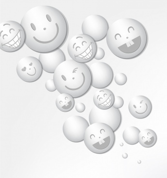 happy emoticon background cute funny facial rounds