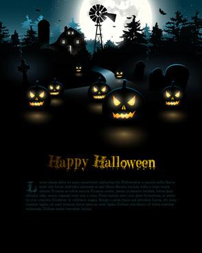happy halloween backgrounds vector set