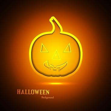 happy halloween card orange bright colorful pumpkin background
